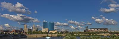 Iupui Photograph - Indianapolis Indiana Skyline Pano 10 by David Haskett