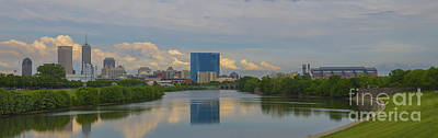 Photograph - Indianapolis Indiana Skyline Panoramic by David Haskett II