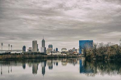 Photograph - Indianapolis Indiana Skyline Storm 700 by David Haskett II