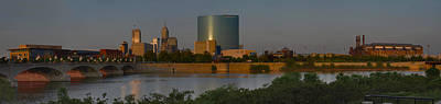 Photograph - Indianapolis Indiana Sunset Panoramic by David Haskett