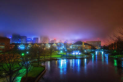 Photograph - Indianapolis Indiana Under Winter Fog by David Haskett