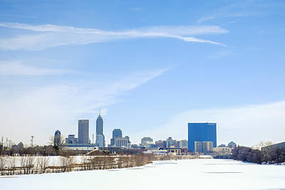 Photograph - Indianapolis Indiana Winter Snow by David Haskett