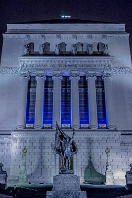 Photograph - Indianapolis Indiana World War Memorial by David Haskett