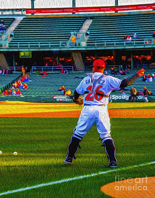 Indianapolis Indians Catcher Art Print by David Haskett