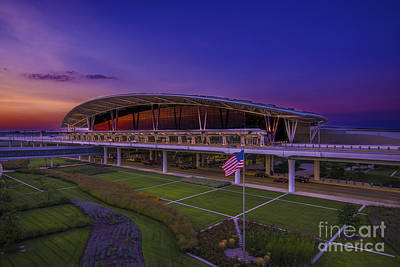 Photograph - Indianapolis International Airport Sunset Alpha by David Haskett