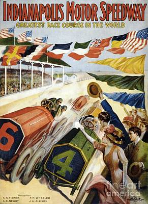 Painting - Indianapolis Motor Speedway by Roberto Prusso