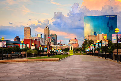 Photograph - Indianapolis Skyline by Alexey Stiop