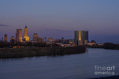 Photograph - Indianapolis Skyline Long Exp 2 by David Haskett