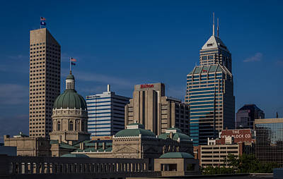Photograph - Indianapolis Skyscrapers by Ron Pate