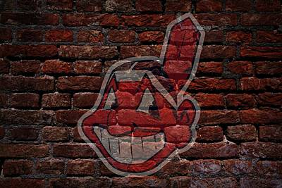 Indians Baseball Graffiti On Brick  Print by Movie Poster Prints