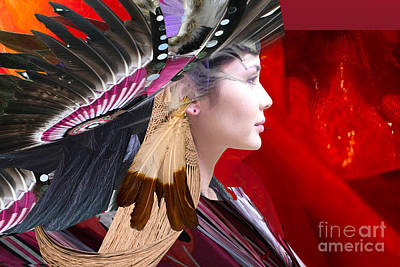Digital Art - Indien Feathers by Angelika Drake