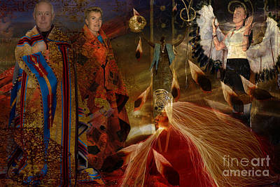 Digital Art - Indien Prayer by Angelika Drake