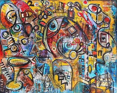 Painting - Indifferent  by Jon Baldwin  Art