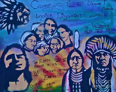 Liberal Painting - Indigenous Respect by Tony B Conscious