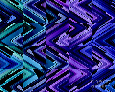 Digital Art - Indigo Blues by Kristi Kruse