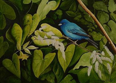 Painting - Indigo Bunting by Charles Owens