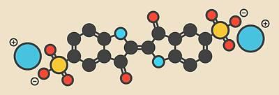 Indigo Carmine Molecule Art Print by Molekuul