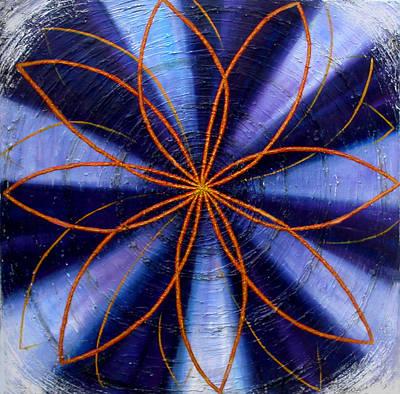 Painting - Indigo Chakra by Anne Cameron Cutri