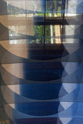 Photograph - Indigo Circles A Vert 1 by Rebecca Cozart
