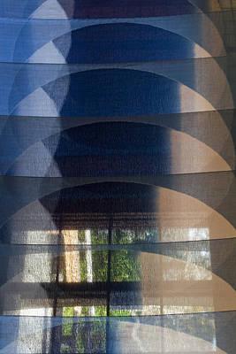 Photograph - Indigo Circles A Vert 2 by Rebecca Cozart