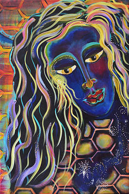 Painting - Indigo Dreams by Mary Ann Matthys