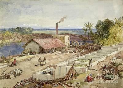 Raj Photograph - Indigo Dye Factory, Bengal, 1860s by British Library
