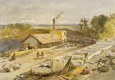 Chimney Drawing - Indigo Factory - Bengal, From India by William 'Crimea' Simpson