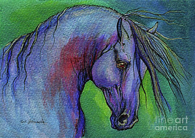 Indigo Horse Original by Angel  Tarantella