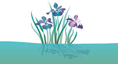 Indigo Iris Art Print