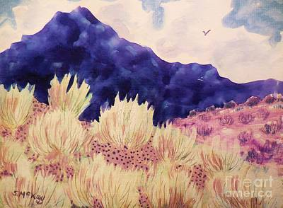 Painting - Indigo Mountain by Suzanne McKay