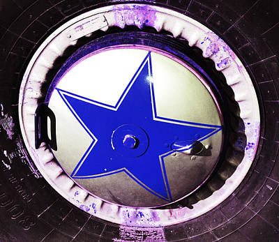 Photograph - Indigo Tire Star by Holly Blunkall