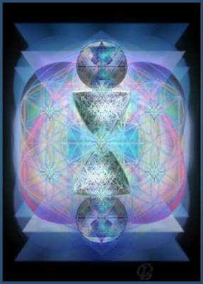 Digital Art - Indigoaurad Chalice Orbing Intwined Hearts by Christopher Pringer