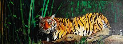 Painting - Indochinese Tiger by Dana Newman