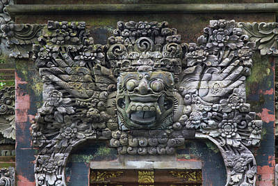 Carving Photograph - Indonesia, Bali Balinese Stone Carving by Emily Wilson