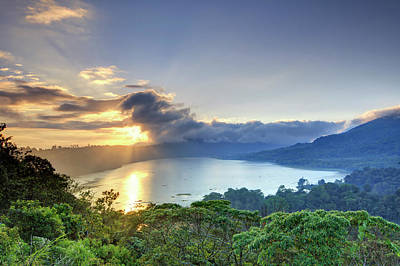 Photograph - Indonesia, Bali, Mountain And Lakes by Michele Falzone