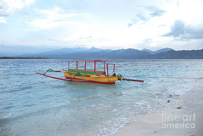 Photograph - Indonesia Beach Landscape Photograph - Indonesian Boat On Beach by Sharon Hudson