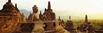 Buddha Statue Photograph - Indonesia, Java, Borobudur Temple by Panoramic Images