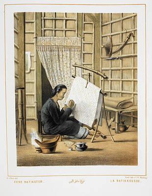 Batik Photograph - Indonesian Woman by British Library