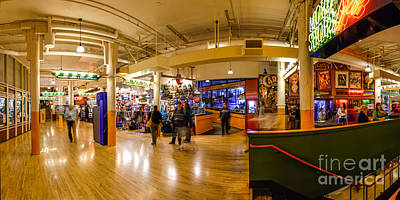 Photograph - Indoor Panorama Of Pike Place Market by Silvio Ligutti