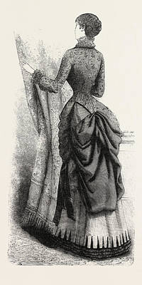 Indoor Drawing - Indoor Toilette Back, Fashion by English School