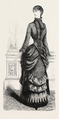 Indoor Drawing - Indoor Toilette Front, Fashion by English School