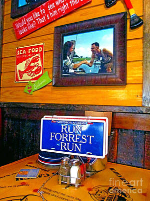 Photograph - Indside Bubba Gump Restaurant by Kay Novy