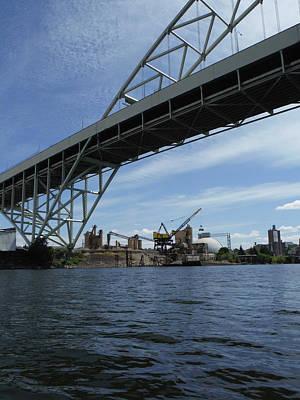 Photograph - Industrial Bridge by Sara Stevenson