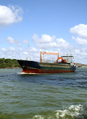Photograph - Industrial Cargo Ship by Antony McAulay