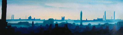Industrial City Skyline 3 Art Print by Paul Mitchell