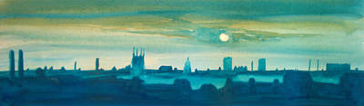 City Painting - Industrial City Skyline 4 by Paul Mitchell