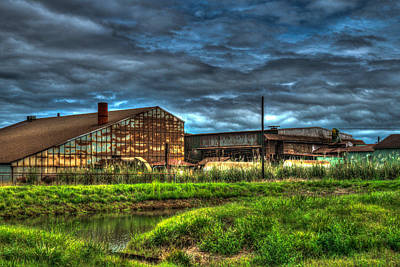 Dismay Photograph - Industrial Complex With Angry Sky by Douglas Barnett