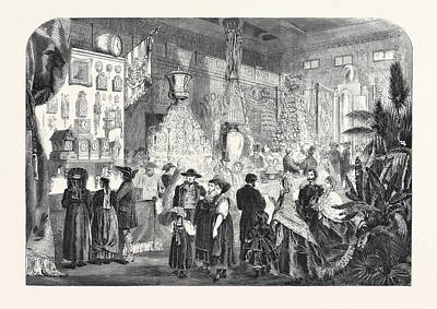 Industrial Exhibition In The Black Forest Germany 1861 Art Print by German School