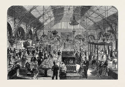 Industrial Exhibition In The New Market Hall At Coventry Uk Art Print by English School