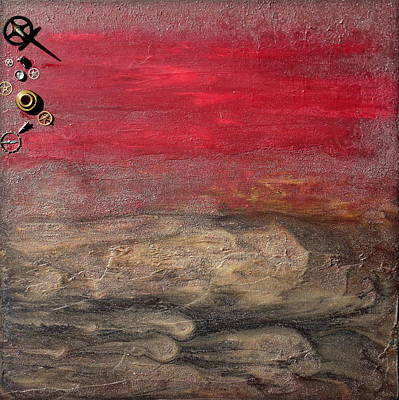 Abstractabstract Painting - Industrial Haven 2 by Holly Anderson